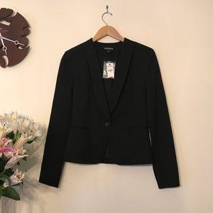 Express Black One Button Cutaway Blazer Size 4